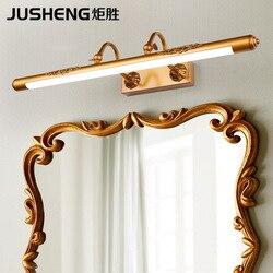 Ju sheng американский стиль, Имитация меди, светодиодный зеркальный передний свет, ванная душевая настенная лампа для двойной передней регулир...