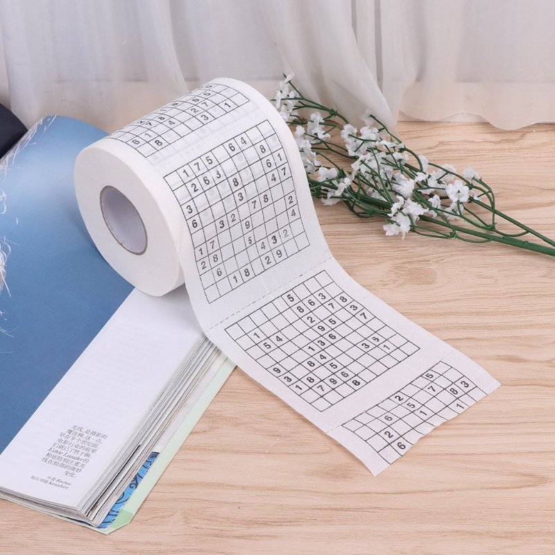 Durable Sudoku Su Printed Tissue Paper Toilet Roll Paper Good Puzzle Game X3UF