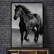 Black and White Animal Art Horses Canvas Painting Wall Art  Canvas Posters and Prints Modern Wall Pictures for Living Room Decor недорого