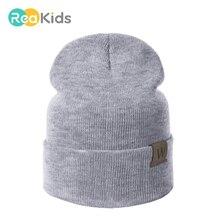 REAKIDS шапочки для мальчиков и девочек детские шапочки для детей хлопковая шапочка для новорожденного младенца зимняя детская шапка вязаные шапки теплая шапка Горячая Распродажа