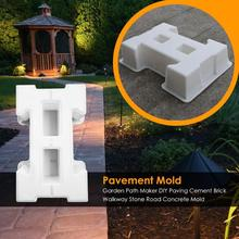 DIY Garden Path Paving Mold Home Courtyard Concrete Driveway Stone Road Mold Reusable Cleanliness Very Practical 50x30x10cm