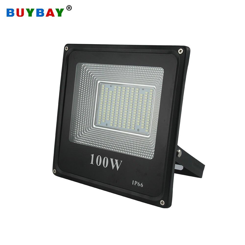 Buybay 50w 100w led 홍수 빛 220 v 240 v 30w 200w 야외 조명 프로젝터 반사판 램프 led 50w 외관 자리 led exterieur