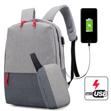 Laptop Usb Backpack School Bag Rucksack Anti Theft Men Backbag Travel Daypacks Male Backpacks Mochila Women Gril with Purse 2020(China)