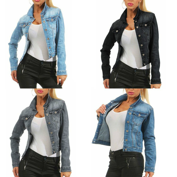 Купить винтажная женская джинсовая куртка в стиле харадзюку повседневная
