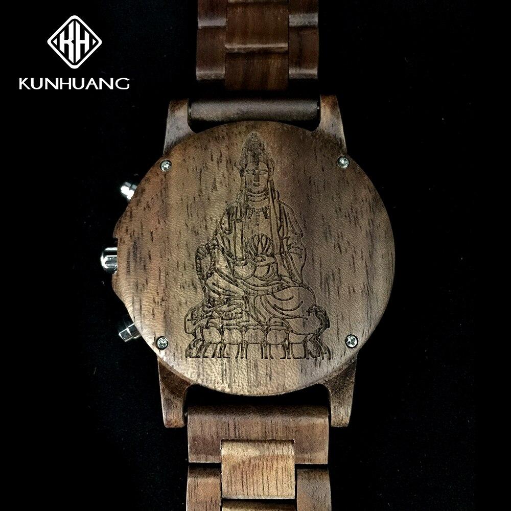 Relógio de Pulso Masculino de Madeira Relógio de Pulso de Madeira Personalizado Masculino Relógio Relógios Masculinos de Madeira Esporte Digital Marca Superior Luxo