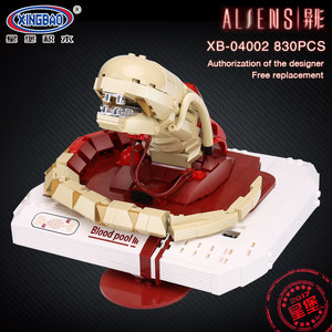 Xingbao 04002 830Pcs Genuine Movie Series The New Alien Blood Pool Robot Set Building Blocks MOC Bricks Boys Toys Christmas Gift(China)