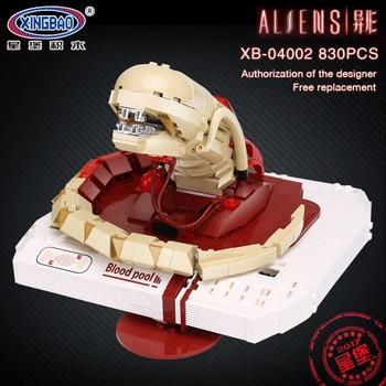 Xingbao 04002 830Pcs Genuine Movie Series The New Alien Blood Pool Robot Set Building Blocks MOC Bricks Boys Toys Christmas Gift
