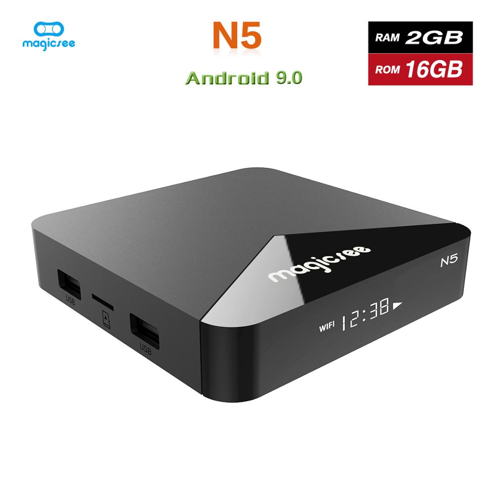 Magicsee N5 Android 9.0 TV BOX  Amlogic S905X Quad-core 4K Resolution 2GB RAM 16GB ROM 2.4G 5G WiFi  Set Top Box