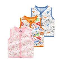 Kids Vest Baby Autumn Cotton Outerwear Floral-Pattern Girls Sweet Keep-Warm Children's