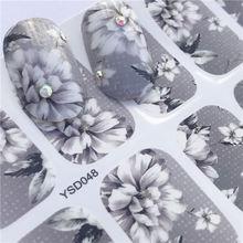 Ноготь LCJ стикеры Фэнтези Красочные конструкции переводные наклейки воды наборы Цветок/перо ногтей Декор красота советы