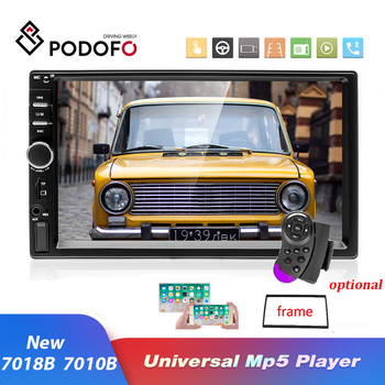 Podofo 2 Din Android 8.1 Car Radio 7 Car Multimedia Player Bluetooth Car Audio USB FM Android IOS Mirror Link 2Din Audio Stereo image