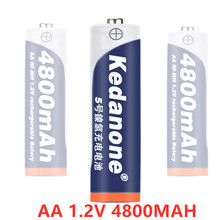 Kedanone AA 4800mAh 1.2v Ni-MH Rechargeable Battery for torch Toys Toys Camera Microphone etc(China)