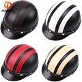 Кожаные мотоциклетные шлемы posbay  шлемы для мотокросса Vespa с открытым лицом  полумоторный скутер  шлемы  козырек  очки для мотокросса  для каф...