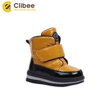 Clibee для мальчиков и девочек зимние непромокаемые сапоги;