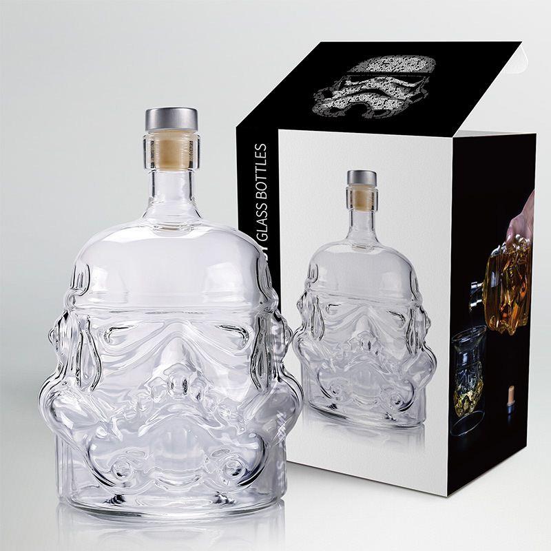 650ml Star Wars blanc soldat verre cruche Storm Trooper esprit bouteille vide cristal vin verre bouteille verre tasse maison barre outils