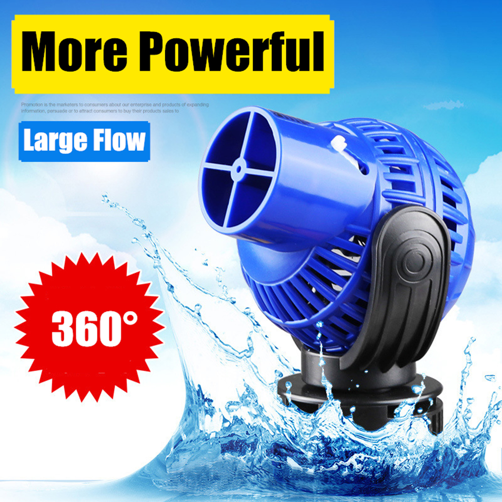 Aquarium Wave Maker Pump Single Double Head,360dergee Adjustable Direction Seawater Freshwater Wave Pump For Fish Tank Surf Pump
