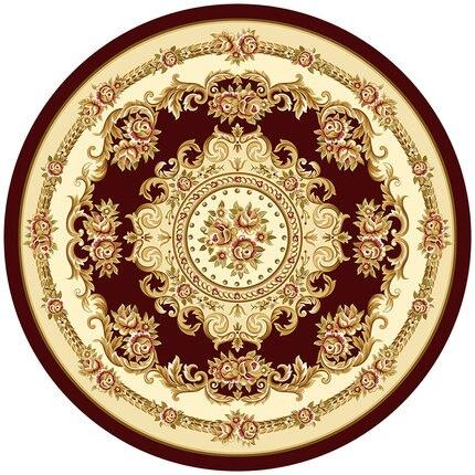 Style européen rond fleur tapis chambre salon classique antidérapant tapis