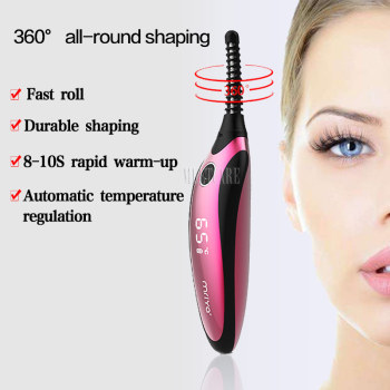 Smart Beauty Electric USB Charger Portable Heated Curling Eyelash Curler Longer Thicker Ironing Eye Lash Device for Beauty Gift 2
