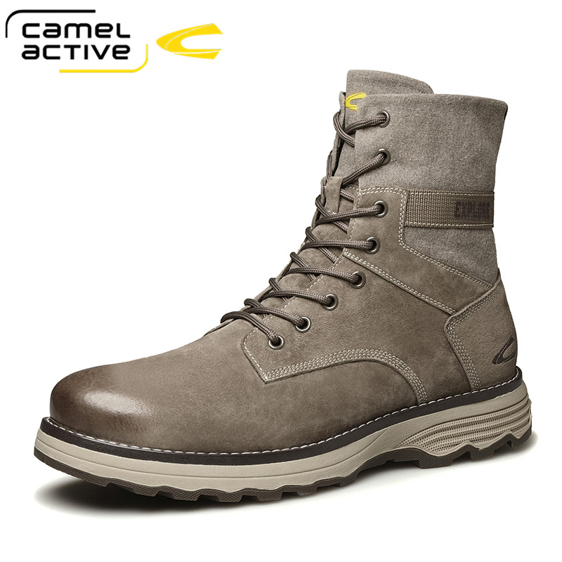 Camel Active New Fashion Outdoor Boots Genuine Leather Men's Shoes Casual Chelsea Boots Non-slip Ankle Boots Zapatos De Hombre