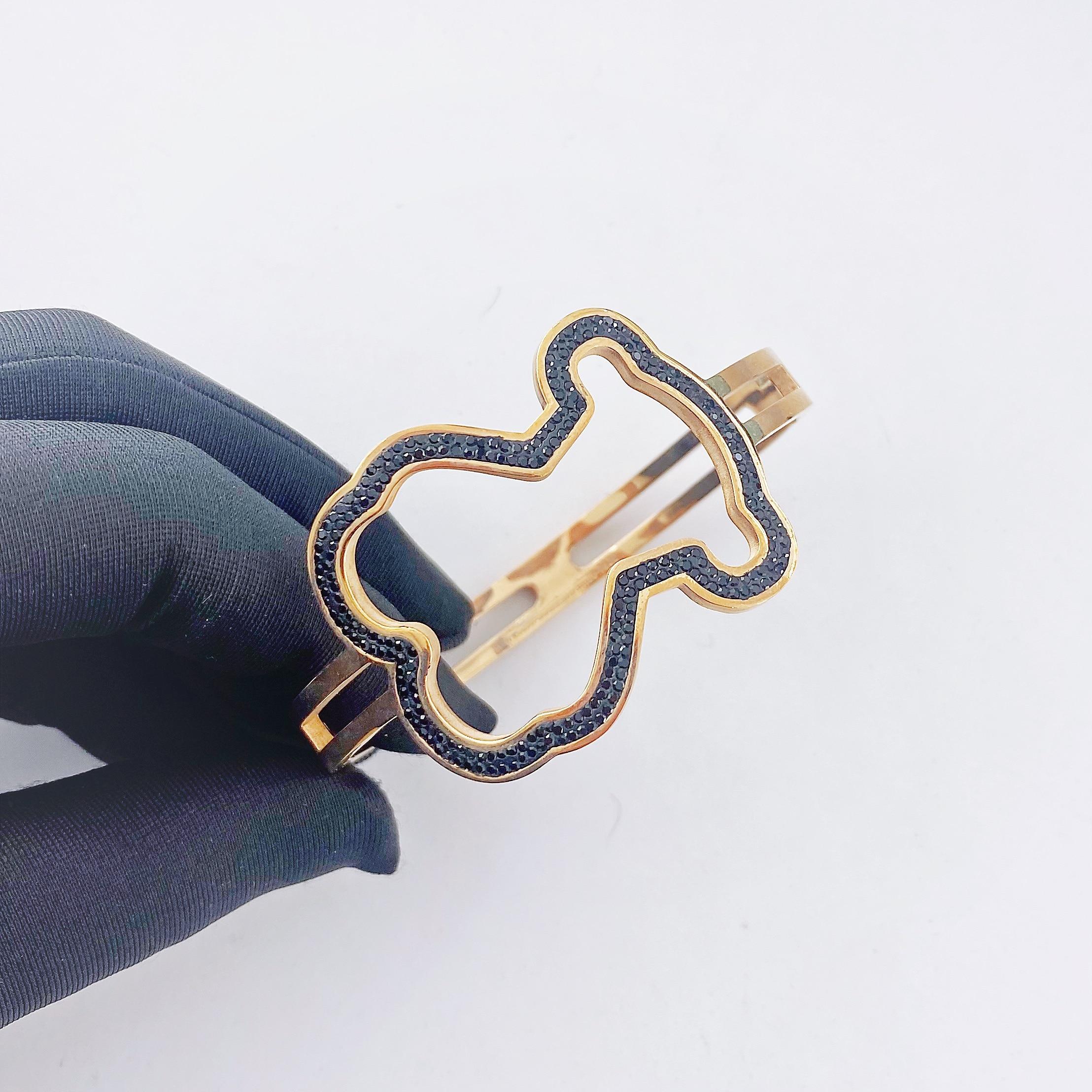 oco titânio aço urso pulseira masculino e feminino personalidade jóias