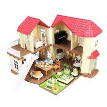 Maison de poupée, Villa, Villa, forêt, ensemble de meubles, maison de poupée, Surprise, ensemble de jouets pour la famille des animaux, cadeau pour enfants, bricolage