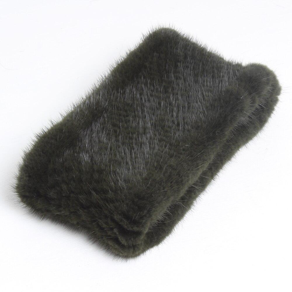 Image 4 - Fashion Lady Real Mink Fur Scarf Headbands Winter Warm Genuine Mink Fur Ring Scarves Luxury Natural Fur Neck Warmer MufflersWomens Scarves   -