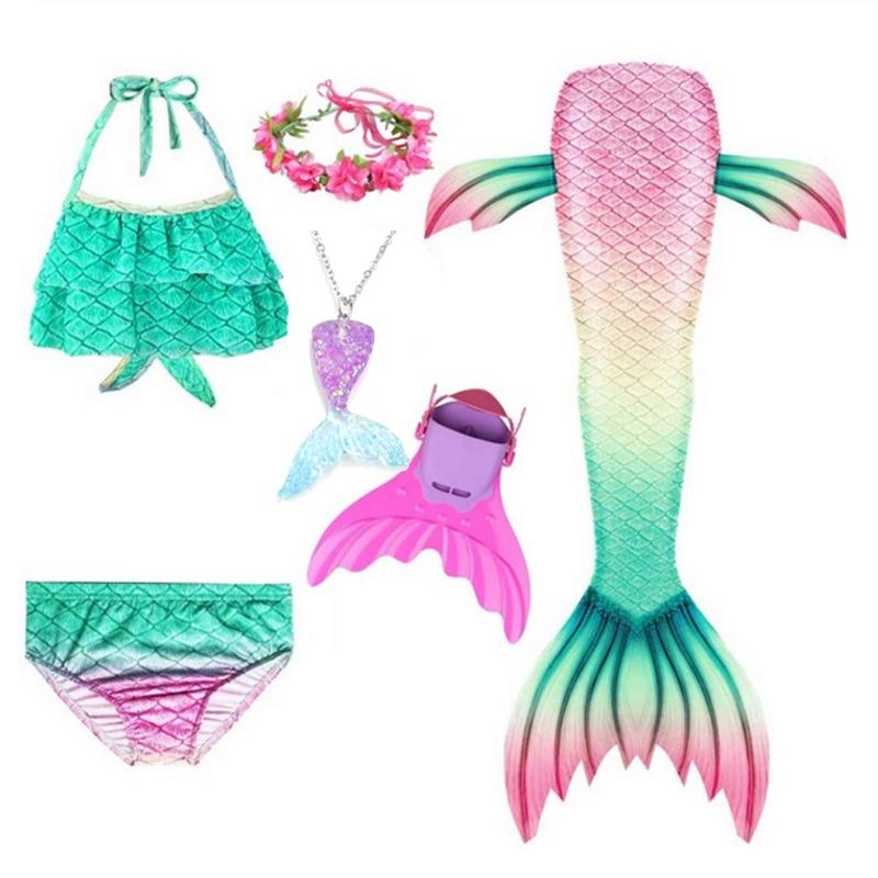 New Girl's Mermaid Tails For Swimming Costume Kid Zeemeerminstaart Cola De Sirena Cauda De Sereia Cosplay Costumes Mermaid
