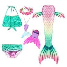 Disfraz de sirena para niña, cola para nadar