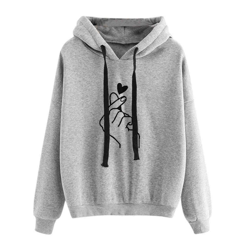 Kawaii Übergroßen Rosa Hoodies Sweatshirt Frauen Harajuku Langarm Hoody Jumper Pullover Top Bluse Mit Tasche Lose Mantel 2019