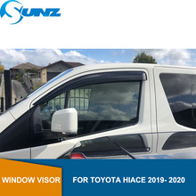 Side window deflector For Toyota Hiace 2019 2020 4 door -van Winodow Visor Vent Shades Sun Rain Deflector Guard Car Styling SUNZ fit for ford explorer side window rain deflector guard visor weathershield free shipping lzh