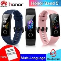 Original Huawei Honor Band 5 Smart Wristband Full Color AMOLED Fitness Band Stylish Watch Faces Smart Heart Rate Sleep Tracker
