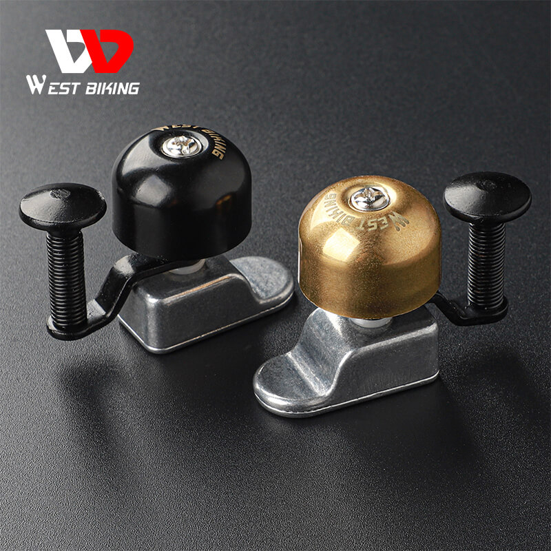 WEST BIKING Bike Bell Mini Ultralight Cycling Safety Alarm Horn Aluminum Alloy Handlebar Bicycle Ring MTB Bike Accessories