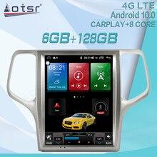 6+128GB For Jeep Grand Cherokee 2008 2013 Android Radio Tape Recorder Car Multimedia Player Stereo Head Unit GPS Navi Auto Audio