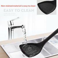 7Pcs Utensils Food grade Silicone Hanging Hole Heat Resistant Kitchenware Set Non Toxic Cooking Home Shovel Spoon Eco friendly