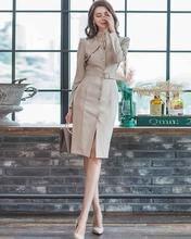 Цельнокроеное корейское платье новое осенне зимнее женское элегантное