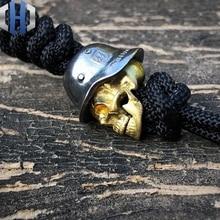 925 Silver+Brass Handmade Knife Beads EDC Umbrella Rope Pendant Necklace Head Pendant Paracord Beads titanium copper bullet knife hang buckle paracord beads survival edc umbrella rope pendant accessories edc knife beads