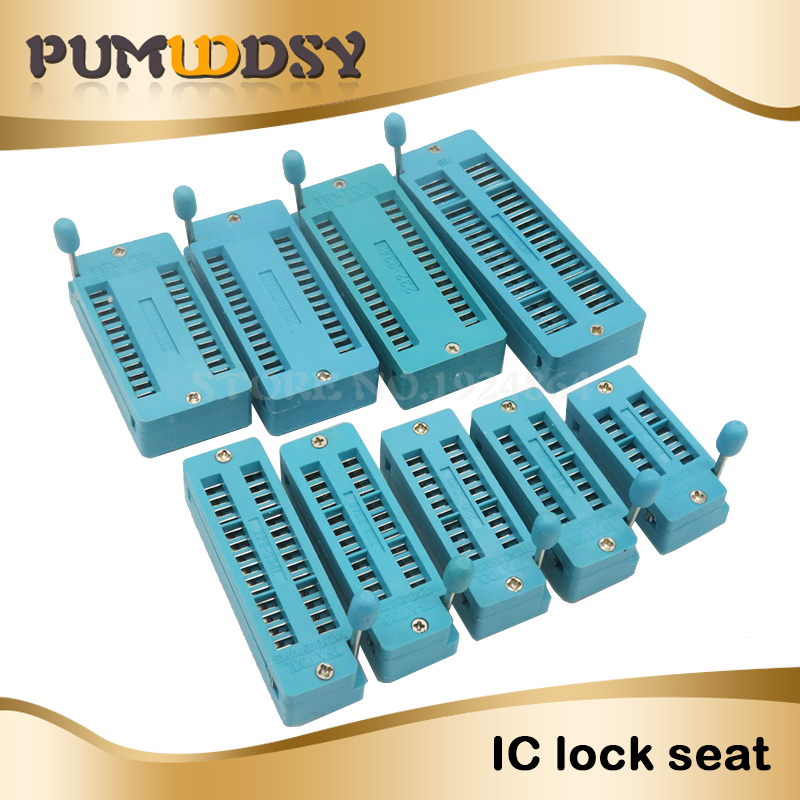 1pcs/lot IC Lock Seat Zif Socket Test Universal Zif Sockets  14Pin 16Pin 18Pin 20Pin 24Pin 28Pin 32PIN 40Pin 3MM Universal Seat