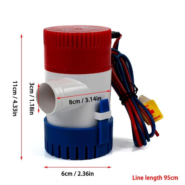 1100GPH 12V Electric Marine Submersible Water Pump For Boat RV Campers Durable Water Pump Without Bilge Switch Boat Accessories 5