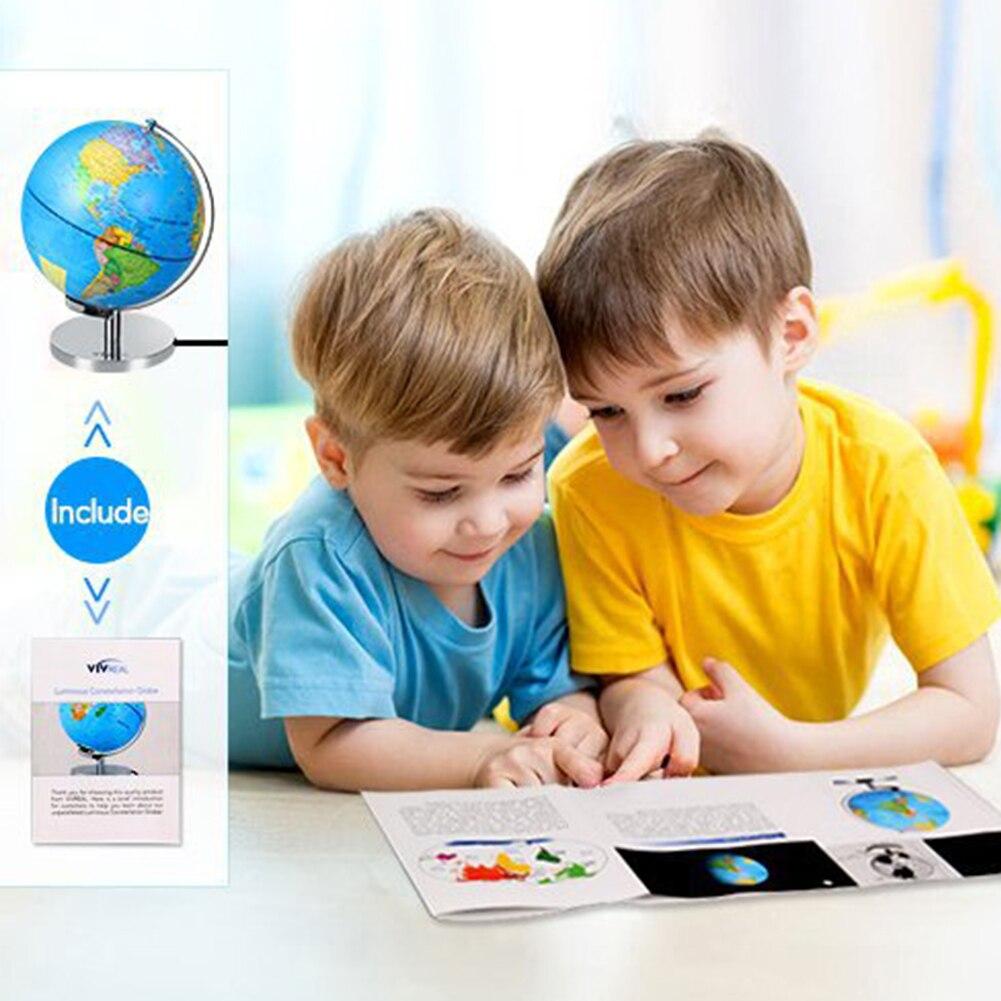 Глобус земли USB Powered миниатюры домашний офис география карта мира обучающая игрушка светодиодный светильник настольные украшения школьные принадлежности