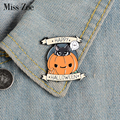 Happy Halloween эмали штырь пользовательские тыквы броши-кошки рюкзак одежда штырь отворотом Панк смешной значок, ювелирное изделие, подарок для д...