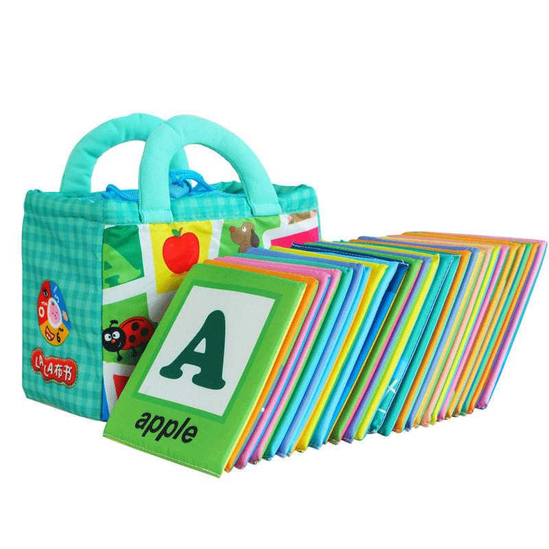 26 ชิ้น/เซ็ต Montessori ตัวอักษรเด็กการเรียนรู้ภาษาอังกฤษหนังสือการ์ดเด็กการ์ดตัวอักษรของเล่นเพื่อการศึกษาเกมหน่วยความจำ