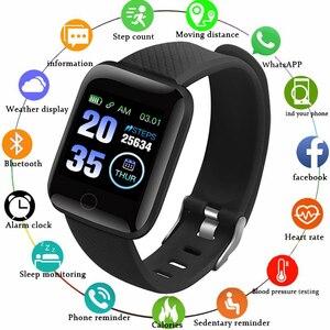 Image 1 - Gejian d13 homens relógio inteligente pressão arterial à prova dwaterproof água smartwatch feminino monitor de freqüência cardíaca fitness relógio esporte para android ios