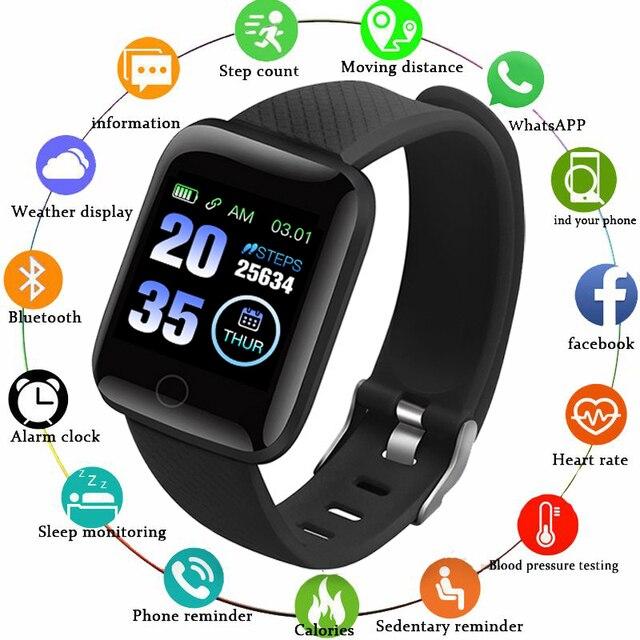 Gejian d13 homens relógio inteligente pressão arterial à prova dwaterproof água smartwatch feminino monitor de freqüência cardíaca fitness relógio esporte para android ios