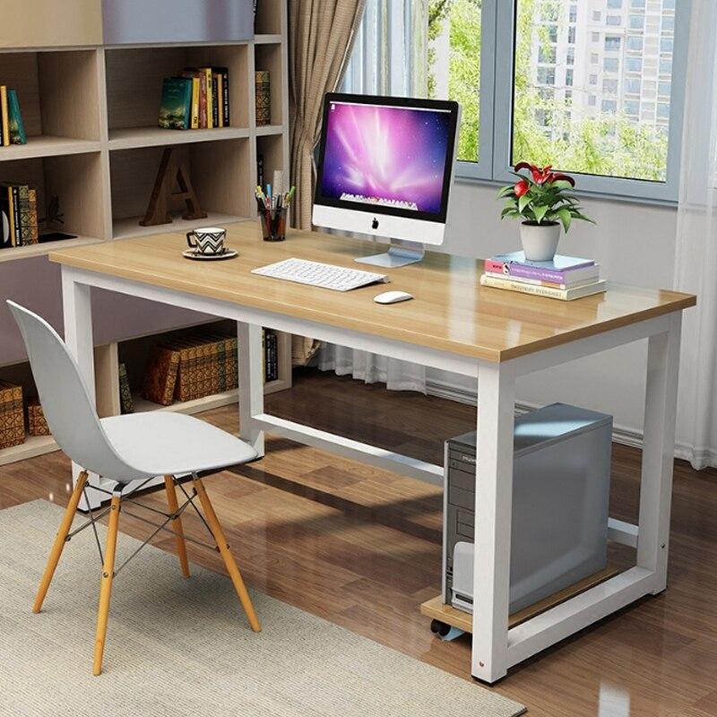 Staff Desk Simple Children Desk Study Table Modern Minimalist Steel Wood Laptop Desk Table
