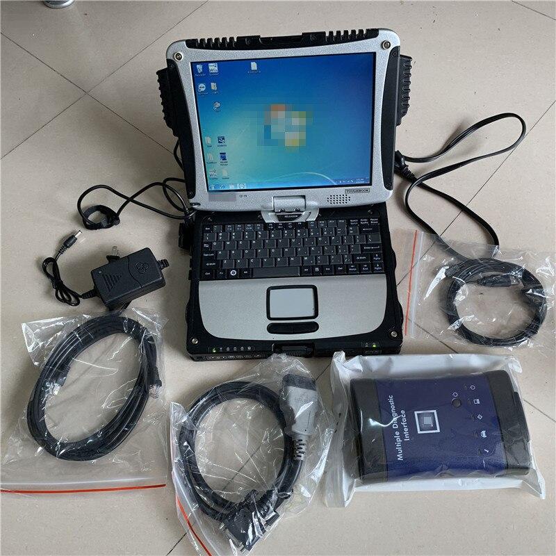 Диагностический инструмент для G-M Auto MDI сканер для G-m Auto Mdi Wi-Fi с SSD программное обеспечение с V2019.09 в cf-19 ноутбук 4G Быстрая скорость готовая к пр...