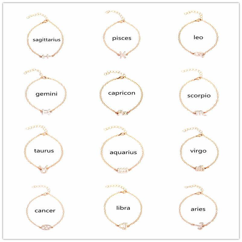 האופנה Jewerly 12 מזלות עשר קבוצות כוכבים צמיד צמידים לנשים