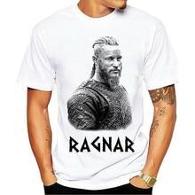 T Shirt Summer Vikings TV Series Odin's Raven Ragnar Lodbrok White Summer Sportwear Casual t-shirt Ringer Tee