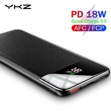 YKZ QC 3.0 batterie externe 10000mAh LED chargeur externe batterie pauvre PD Charge rapide 12V Powerbank pour iPhone Xiao mi mi