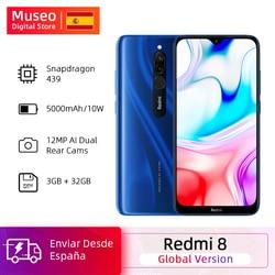 Version mondiale Xiaomi Redmi 8 3GB 32GB Snapdragon 439 Octa Core 12MP double caméra téléphone portable 5000mAh grande batterie OTA Code REFRESH7 €50-€7  REFRESH10 €70-€10