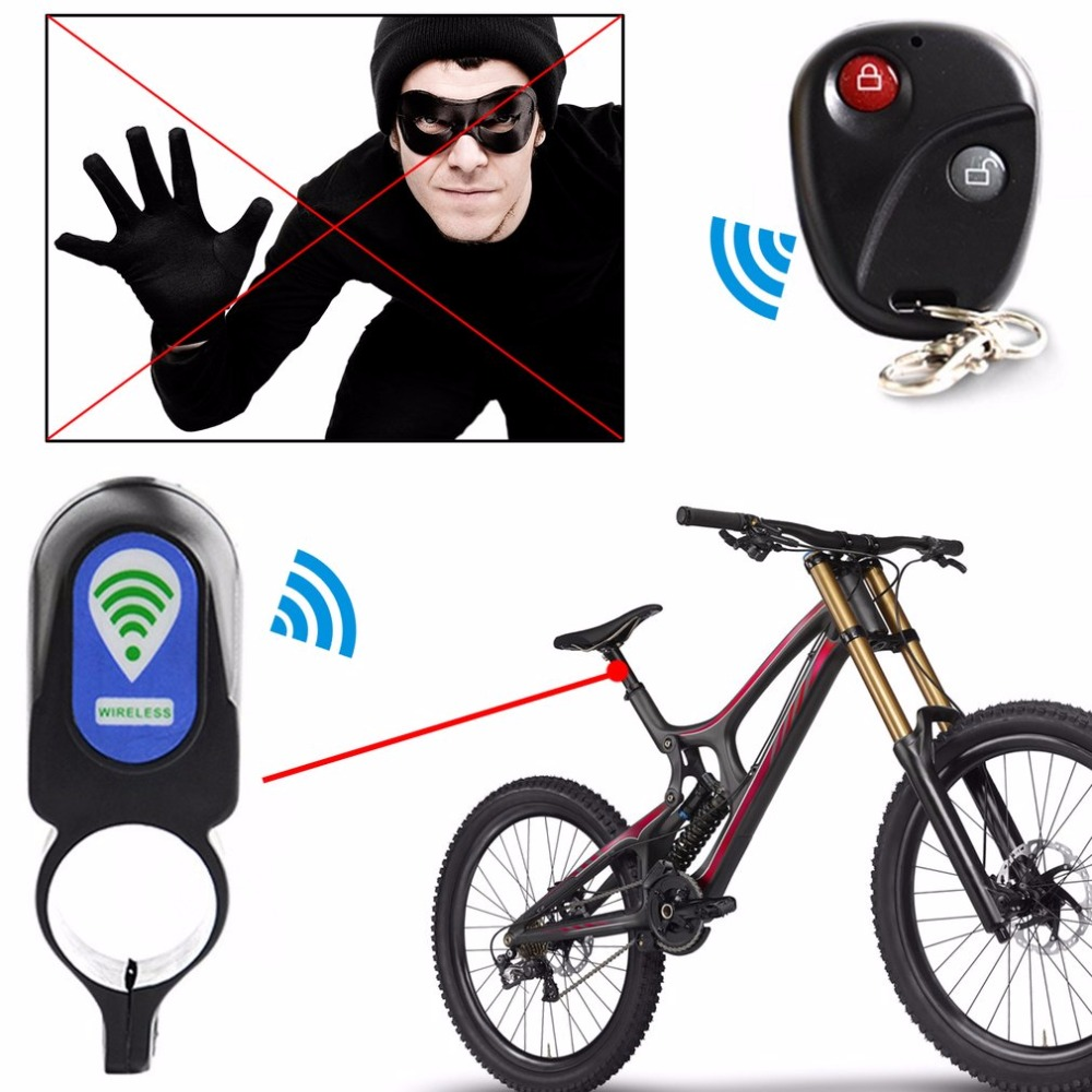 110db Bicycle Alarm Lock Anti-theft Lock With Remote Controller Riding Cycling Security Lock Vibration Alarm Bicycle Accessories